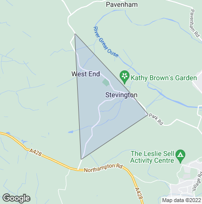 Map of property in Stevington
