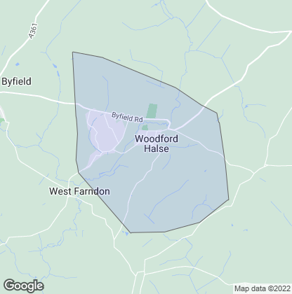 Map of property in Woodford Halse