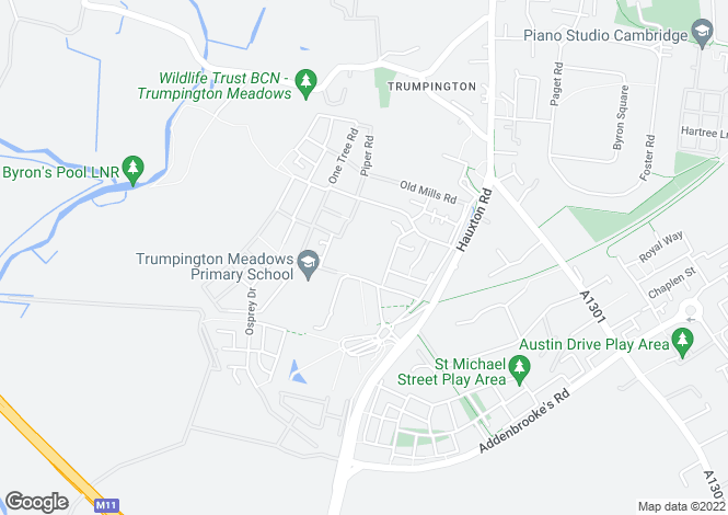 Map for Kestrel at Trumpington Meadows, Hauxton Road,