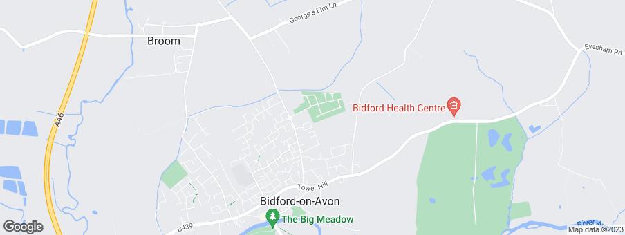 Map for Miller Homes Midlands