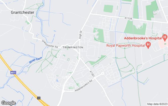 Map for Camalet, Trumpington