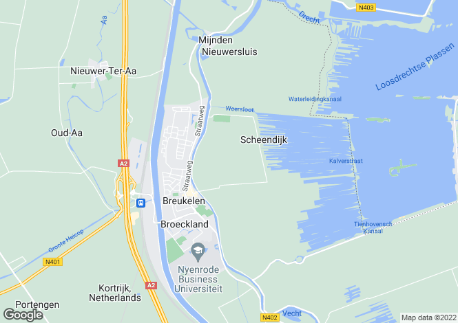 Map for Utrecht, Loenen