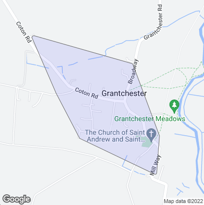 Map of property in Grantchester