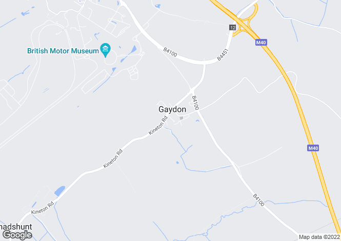 Map for St Giles Road, Gaydon