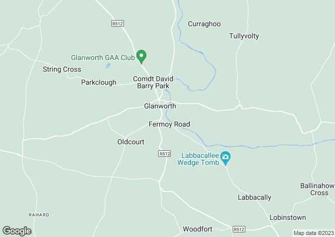 Map for Glanworth, Cork