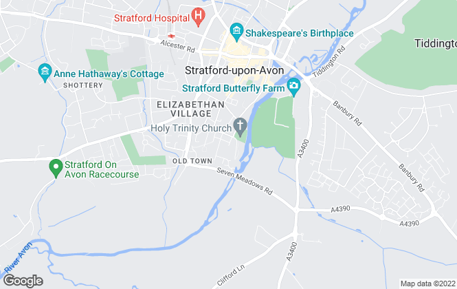 Map for Westbridge Commercial Limited, Stratford Upon Avon