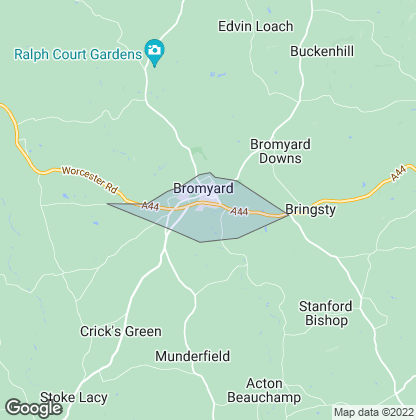 Map of property in Bromyard