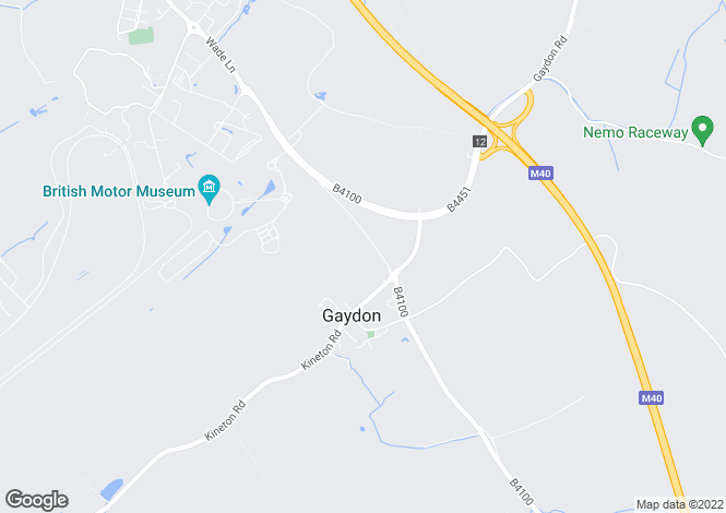 Map for Warwick Road, Gaydon, Warwick, Warwickshire