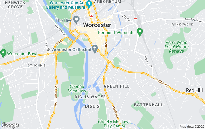Map for Bartrams Sales and Lettings, Worcester