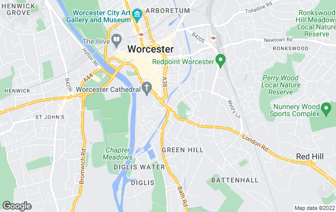 Map for Parkers Residential Sales & Lettings , Worcester
