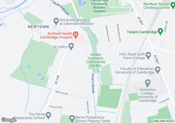 Map for Newton Road, Cambridge