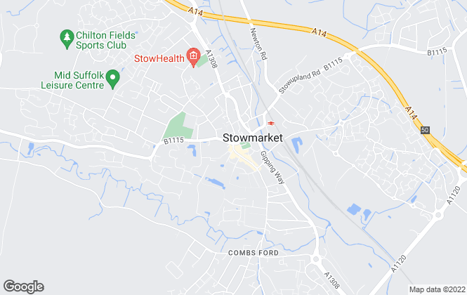 Map for Bucks Property Agents, Stowmarket