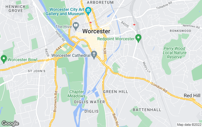 Map for John Sanders Lettings, Worcester