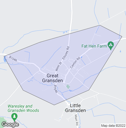 Map of property in Great Gransden