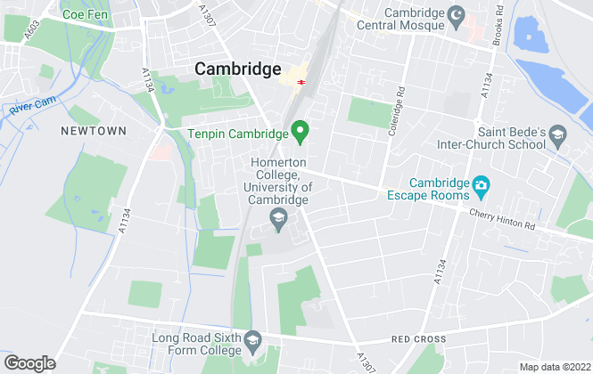 Map for Carter Jonas, Cambridge South Lettings