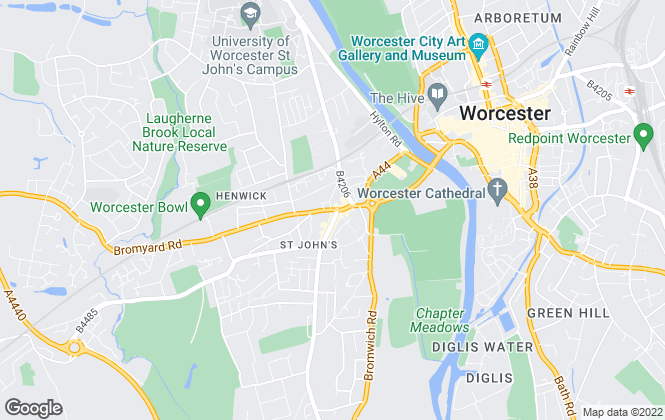 Map for QualitySolicitors Parkinson Wright Estate Agents, Worcester