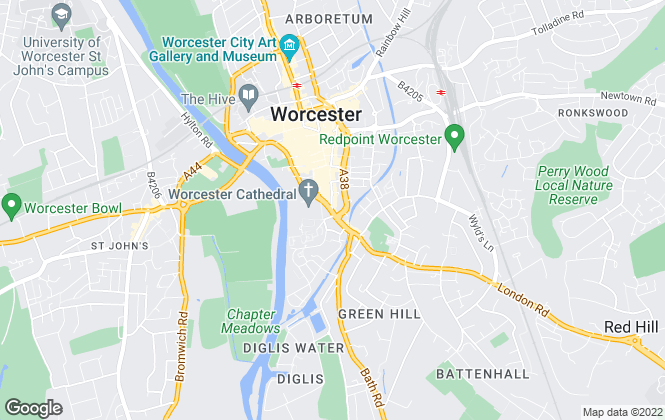 Map for Moovyn, Worcester