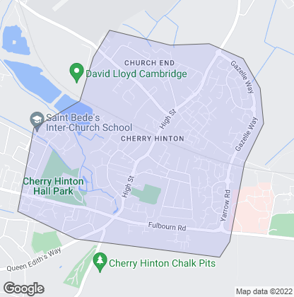 Map of property in Cherry Hinton