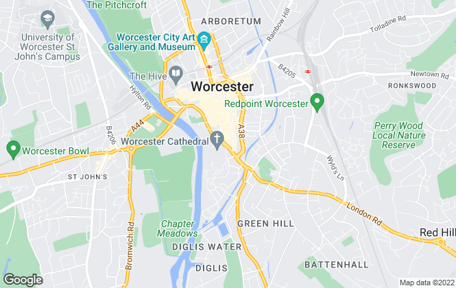 Map for Knight Frank, Worcester