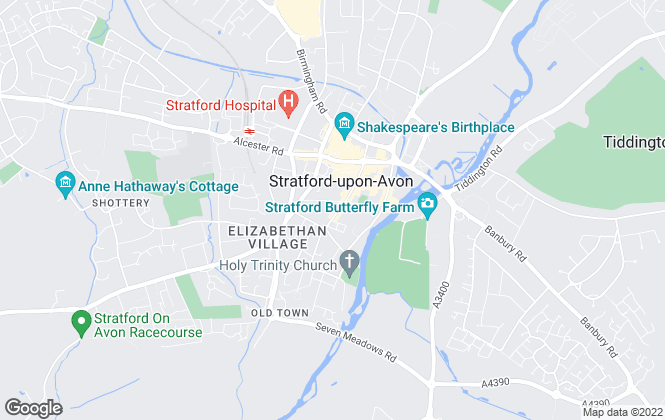 Map for Cribs Residential Lettings, Stratford-Upon-Avon