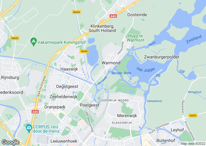 Map for Zuid-Holland, Warmond