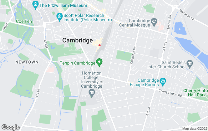 Map for Cheffins Commercial, Cambridge