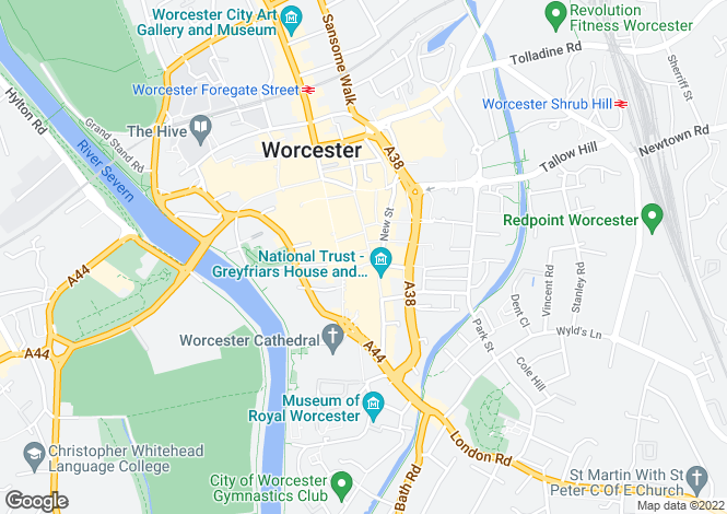 Map for The Shambles, Worcester, Worcestershire, WR1