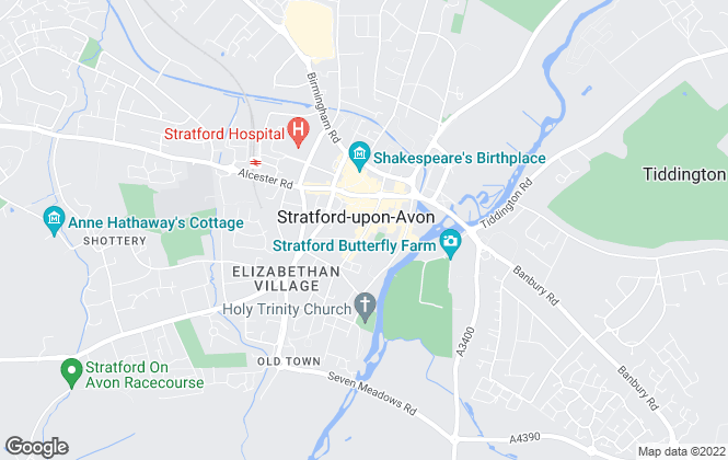 Map for Jeremy McGinn & Co, Stratford Upon Avon