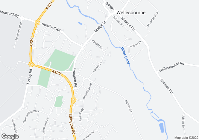 Map for 2 The Old Orchard, Lowes Lane, Wellesbourne, Warwick, CV35