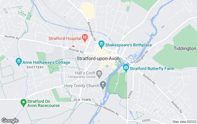 Map for Belvoir, Stratford-Upon-Avon