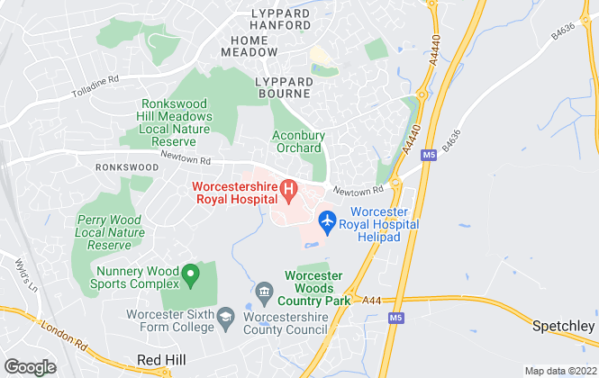 Map for  Halls Estate Agents , Worcester