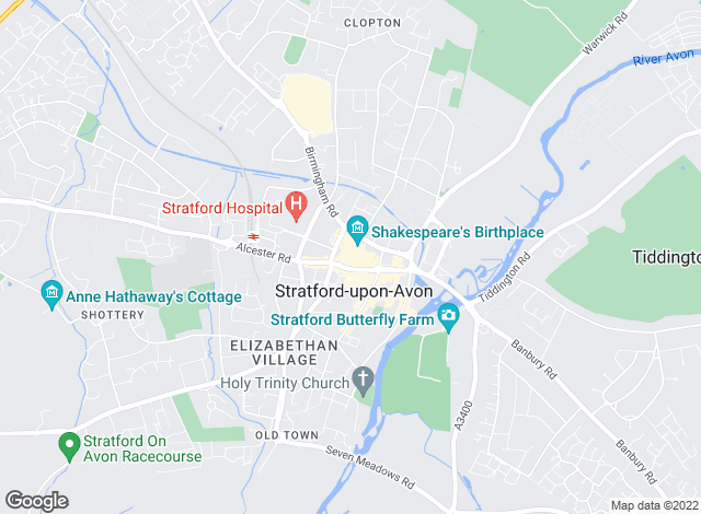 Map for Edwards Estate Agents, Stratford upon Avon