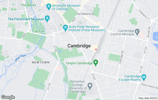 Map for Tucker Gardner, Cambridge