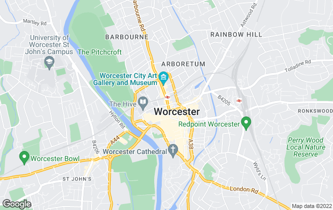 Map for Your Move , Worcester