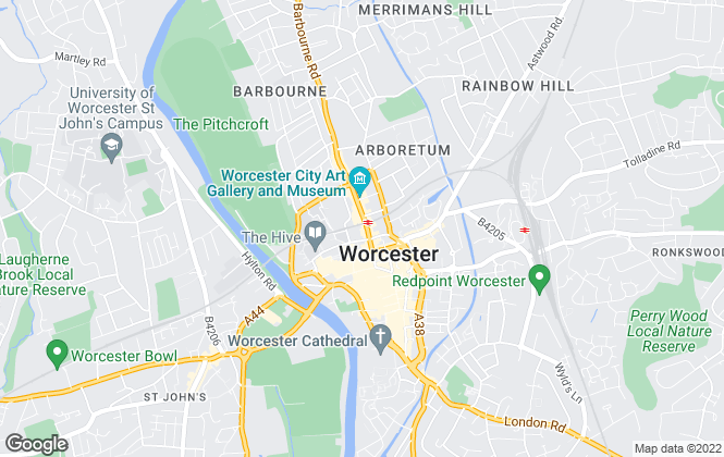Map for R A Bennett & Partners , Worcester