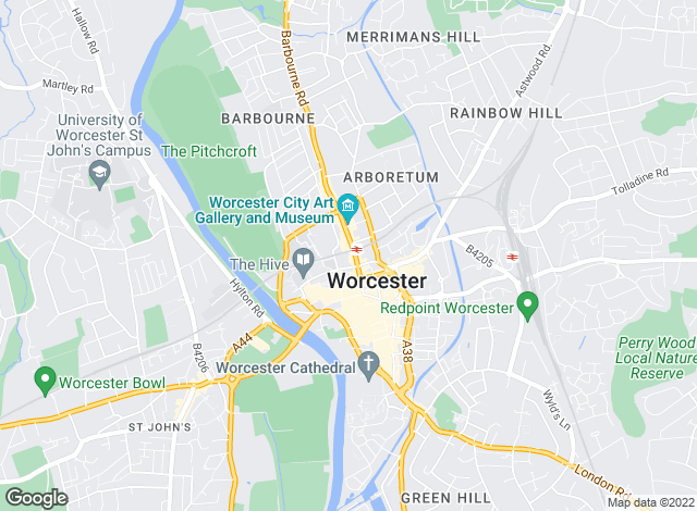 Map for Andrew Grant - City, Worcester City Homes