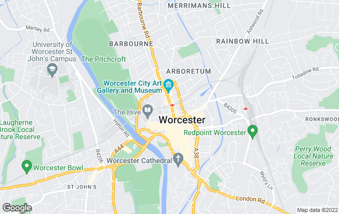Map for Leaders , Worcester