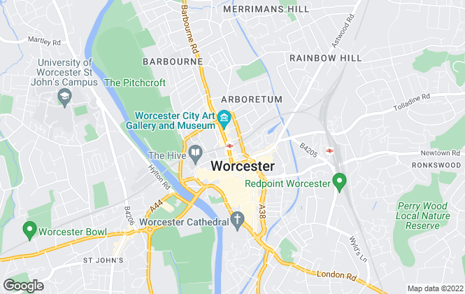 Map for Arden Estates, Worcester