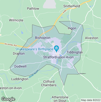 Map of property in Stratford-Upon-Avon