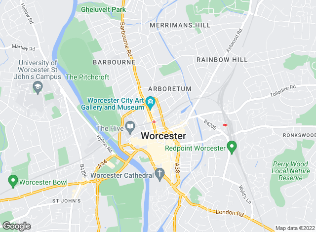 Map for Andrew Grant, Worcester Commercial