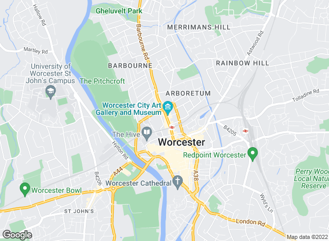Map for Hills Estate Agents , Worcester