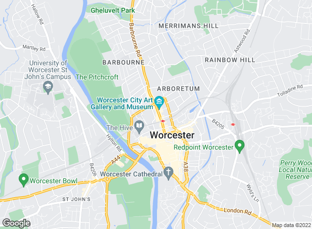 Map for Martin & Co, Worcester - Lettings & Sales