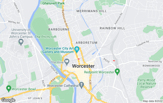 Map for Hemmingway Lettings Limited, Worcester