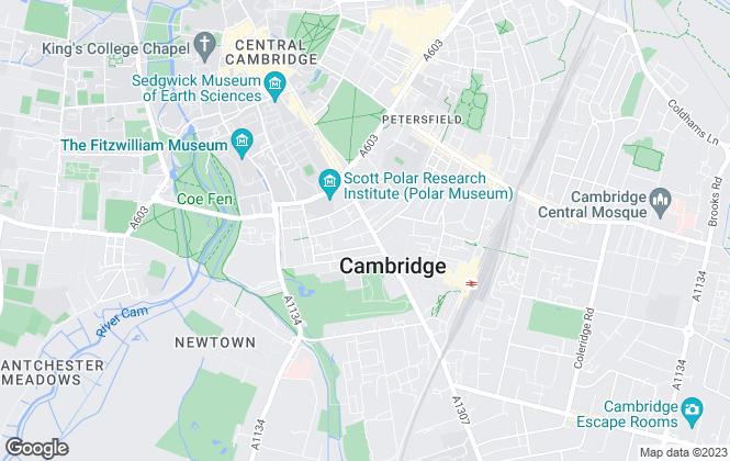 Map for Strutt & Parker - Lettings, Cambridge City Lettings