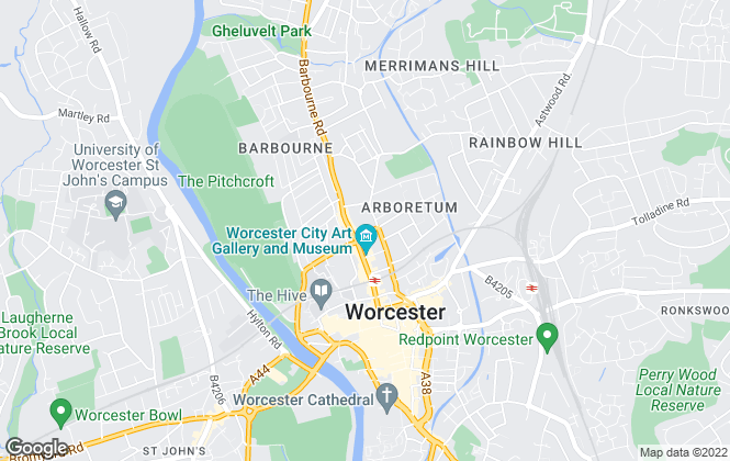 Map for Harris Lamb, Worcester