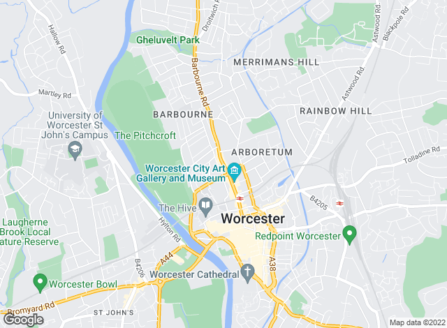 Map for Simply Lets LTD, Worcester