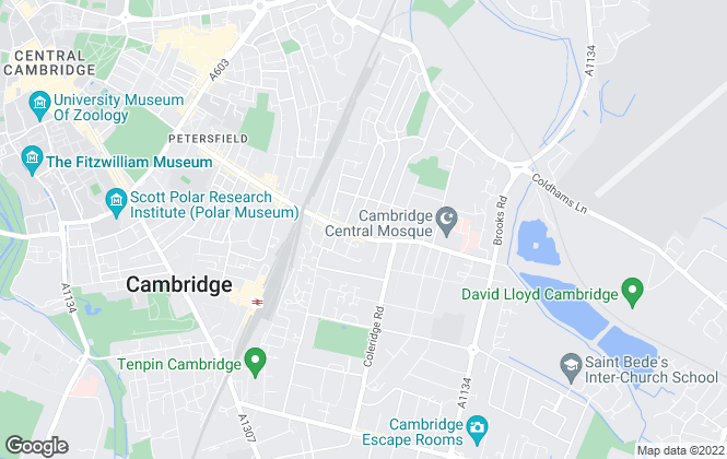 Map for Martin & Co, Cambridge - Lettings & Sales