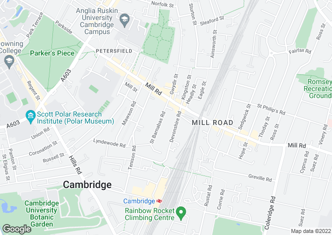 Map for St Barnabas Road, Cambridge