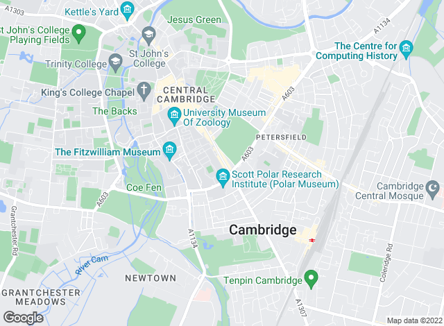 Map for Abbotts Lettings, Cambridge