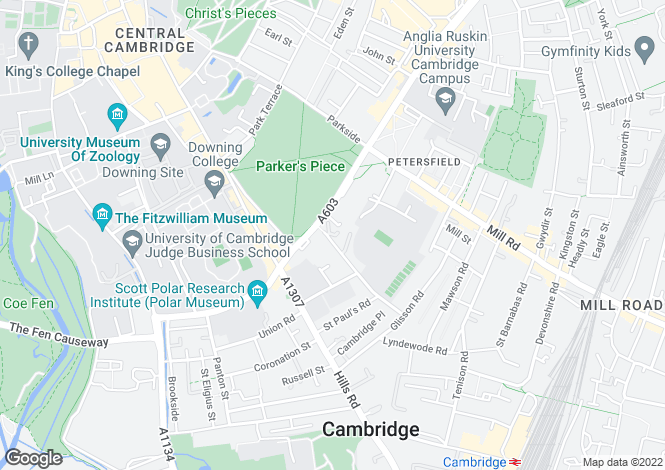Map for Gresham Place, Cambridge, CB1